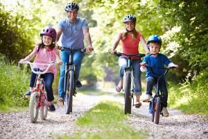 Radtour mit der Familie mit den Fahrrädern vom Fahrradverleih Lippstadt