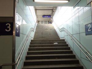 Treppe zum Bahnsteig Bahnhof Lippstadt