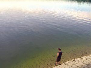 Angler an der Möhne in der Nähe von Lippstadt